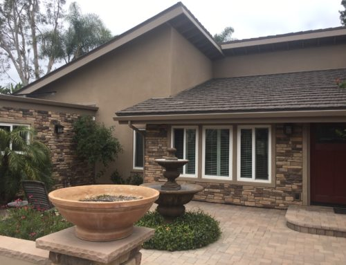 Restucco and Stone Veneer near Lake Poway